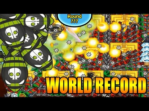 BEATING THE WORLD RECORD IN BLOONS TD BATTLES | HIGHEST ROUND EVER! MEGA BLOONS STREAM!