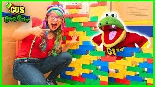 Huge Box Fort Challenge! Kids Cardboard Fort Adventure!