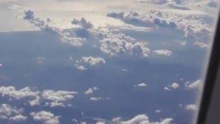 Cruzando Panamá y entrando al espacio aéreo de Costa Rica, se ve la costa del Océano Pacífico