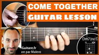 Come Together Guitar Lesson - part 1 of 3