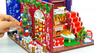 DIY Doll House with Christmas Decoration