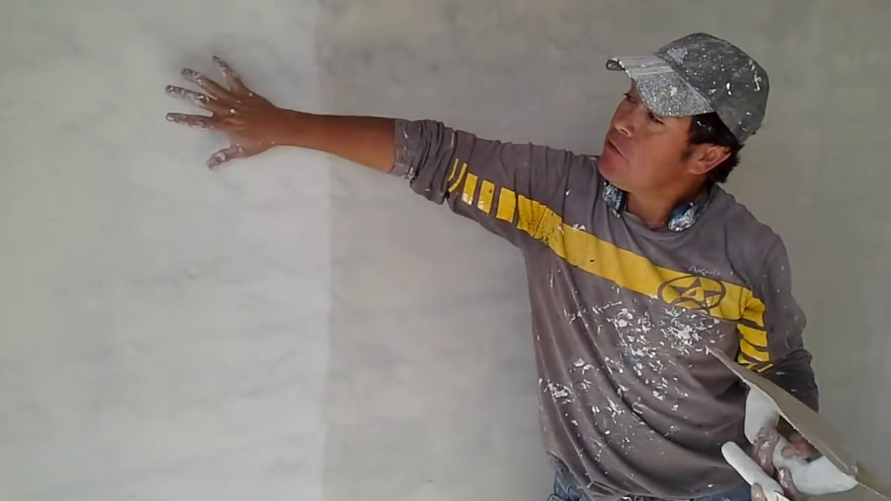 Como empastar una pared 2 mano youtube - Como empapelar una pared ...