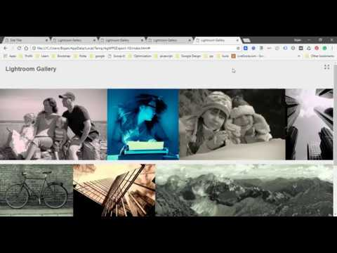How To Ceate HTML Web Photo Gallery In Photoshop Lightroom Classic CC