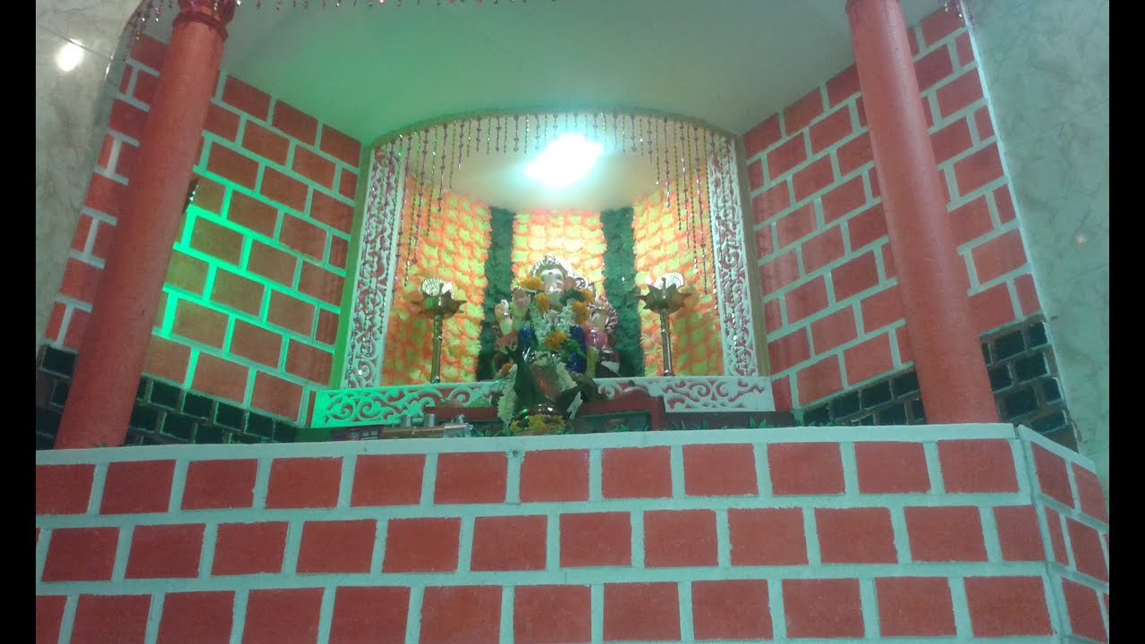 Ganpati decoration at home 2014 youtube for Ganapati decorations home