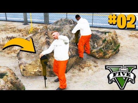 GTA ROLEPLAY - TRABALHEI DENTRO da CADEIA!!! (QUEBREI PEDRA) #02