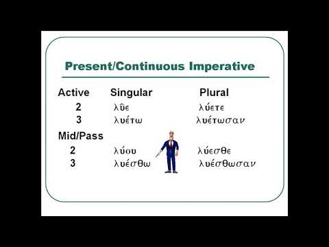 Learn Greek -- Chapter 24 Imperative Verbs