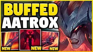 WTF? THESE *NEW* AATROX BUFFS MAKE HIM ACTUAL GOD-TIER! BEST REWORK EVER! - League of Legends