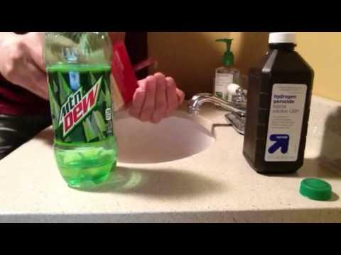 homemade mountain dew glow stick youtube