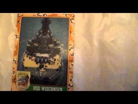 Desert Storm Card USS Wisconsin 09