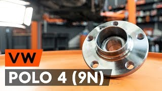 Deflection / Guide Pulley, timing belt installation VW POLO: video manual