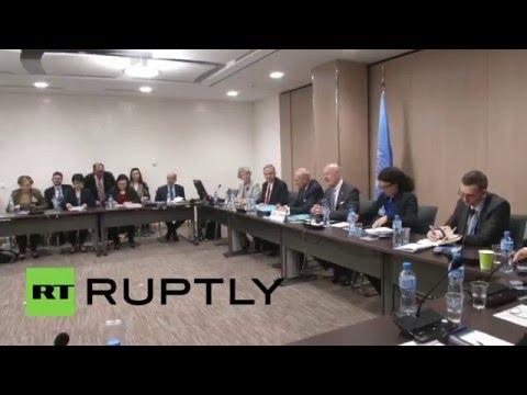 Switzerland: Syrian govt. delegation meet with De Mistura as peace talks kick off in Geneva