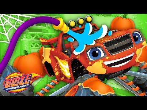 Blaze's HALLOWEEN Car Wash Surprise #16 🎃 | Blaze and the Monster Machines