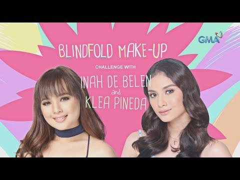 Blindfold Make-up Challenge with Inah de Belen and Klea Pineda