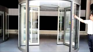 Two-wing automatic revolving door -KBB