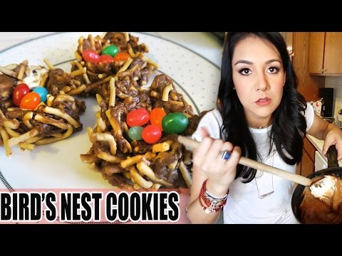 ATTEMPT AT BEING A CUTE PINTEREST MOM #2- Bird's Nest Cookies- #TastyTuesday