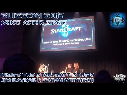 BLIZZCON 2016 | Voice Actor Stage | Starcraft II - Inside the Studio - Raynor and Kerrigan
