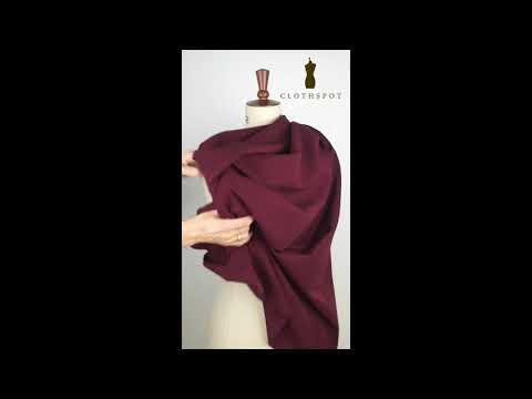 'Gamine' classic wine stretch bengaline fabric