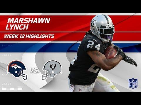 Marshawn Lynch's 111 Total Yards & 1 TD vs. Denver!   Broncos vs. Raiders   Wk 12 Player Highlights