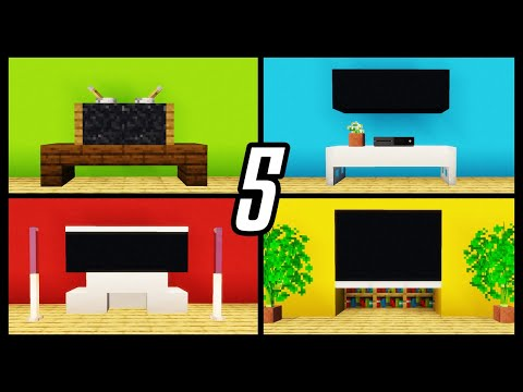 Minecraft: 5 TV Designs To Improve Your House! (Easy Build Hacks)