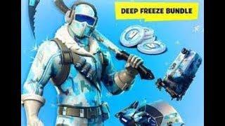 NEW DEEP FREEZE BUNDLE !! // Fortnite Frostbite Skin Live Gameplay