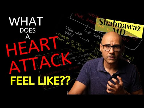 What does a HEART ATTACK FEEL like? Angina, Heart ATTACK Symptoms EXPLAINED.