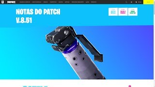 DARK GRENADE and NEWS of the PATCH 8.51 v OF FORTNITE!