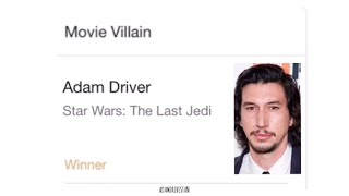 ADAM DRIVER WON ALL TEEN CHOICE AWARD CATEGORIES!!!!! *OMG*