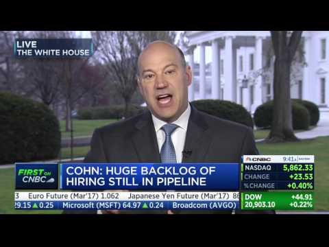 Economic Adviser Gary Cohn: CEOs Tell Trump They're Investing In US Because Of Pro-Growth Policies