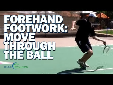 Tennis Forehand Footwork | How To Move Through Short Balls