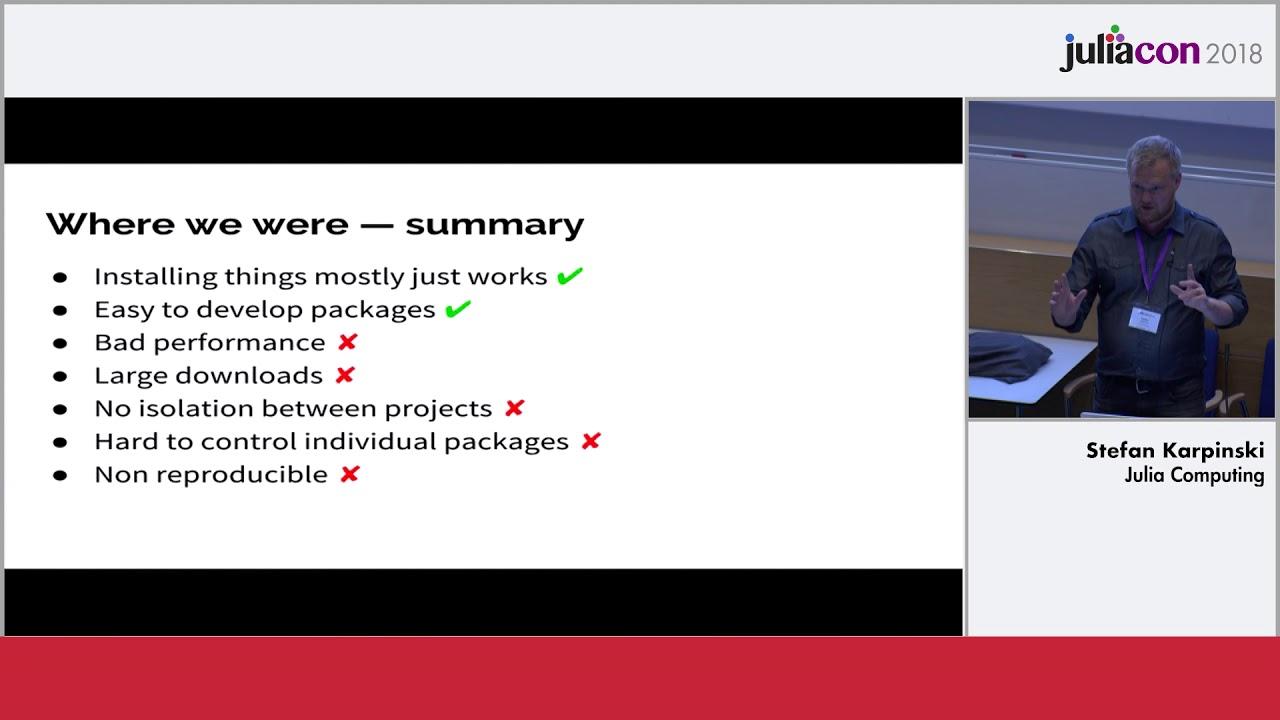 Pkg3 The new Julia package manager | Karpinski & Carlsson