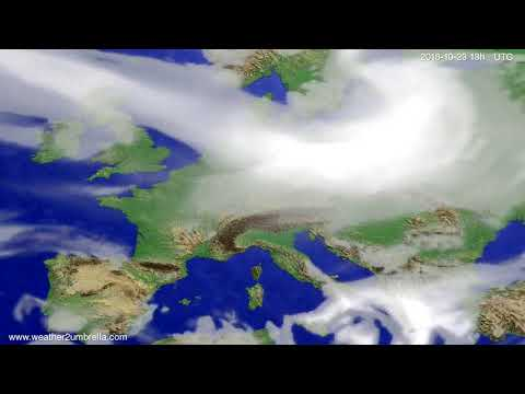 Cloud forecast Europe 2018-10-20