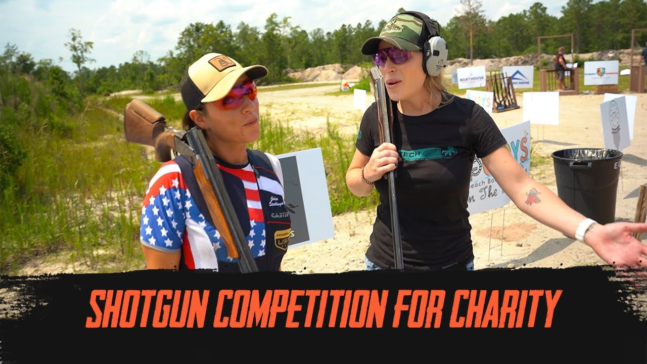 Trickshots and Competition Shooting   With Kat and Julia