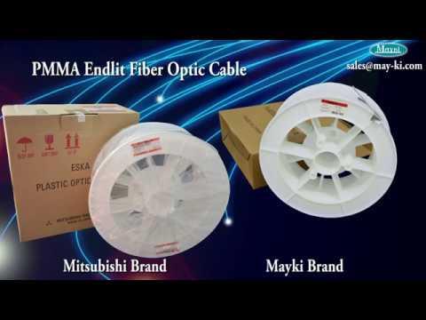 PMMA Plastic End Glow Fibre Optic Cable