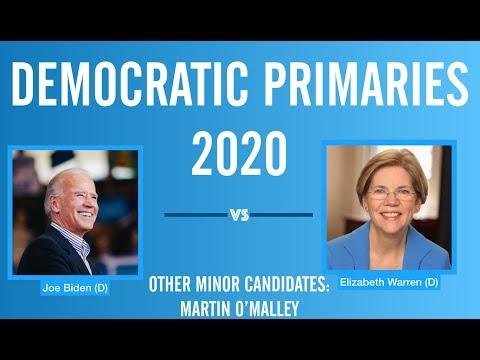 2020 Election Night | Joe Biden vs Elizabeth Warren | Democratic Primary 2020