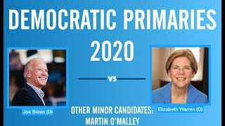 2020 Election Night | Joe Biden vs Elizabeth Warren | Democratic Primary 2020
