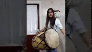 Punjabi daga. Mujra music. Punjabi dhol. How pretty girl is playing Punjabi daga. Viral video.