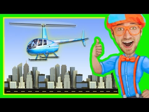 1 Hour of Blippi Videos | Helicopters and More!
