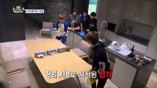 vixx one fine day episode 8 hyuk vs leo table tennis showdown