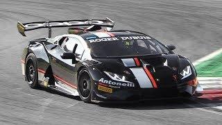 Lamborghini Huracán Super Trofeo Evo: Pure V10 Sound + Explosive Downshifts!
