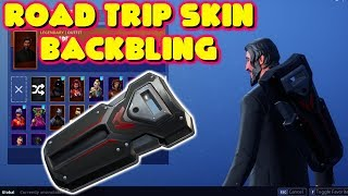 NEW *ROAD TRIP SKIN BACKBLING* ON DIFFERENT SKINS! FORTNITE SHOWCASE