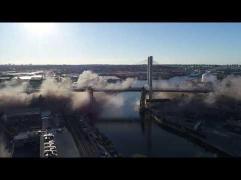 Kosciuszko Bridge Aerial b-roll