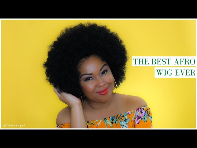 Curly Afro | Afro Wig | Afro Wigs For Black Women | Afro Wig Synthetic Tutorial | This Bahamian Gyal