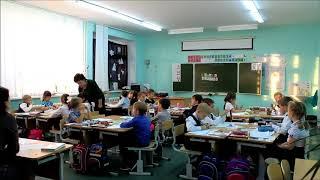 Фрагмент интегрированного урока математики и технологии в 1 классе