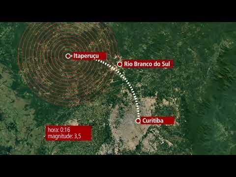Terremoto de 3.5 graus atinge a região de Curitiba