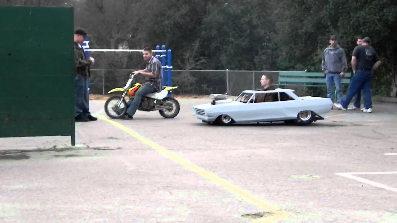 mini nova race, hand made sheet metal body. - YouTube