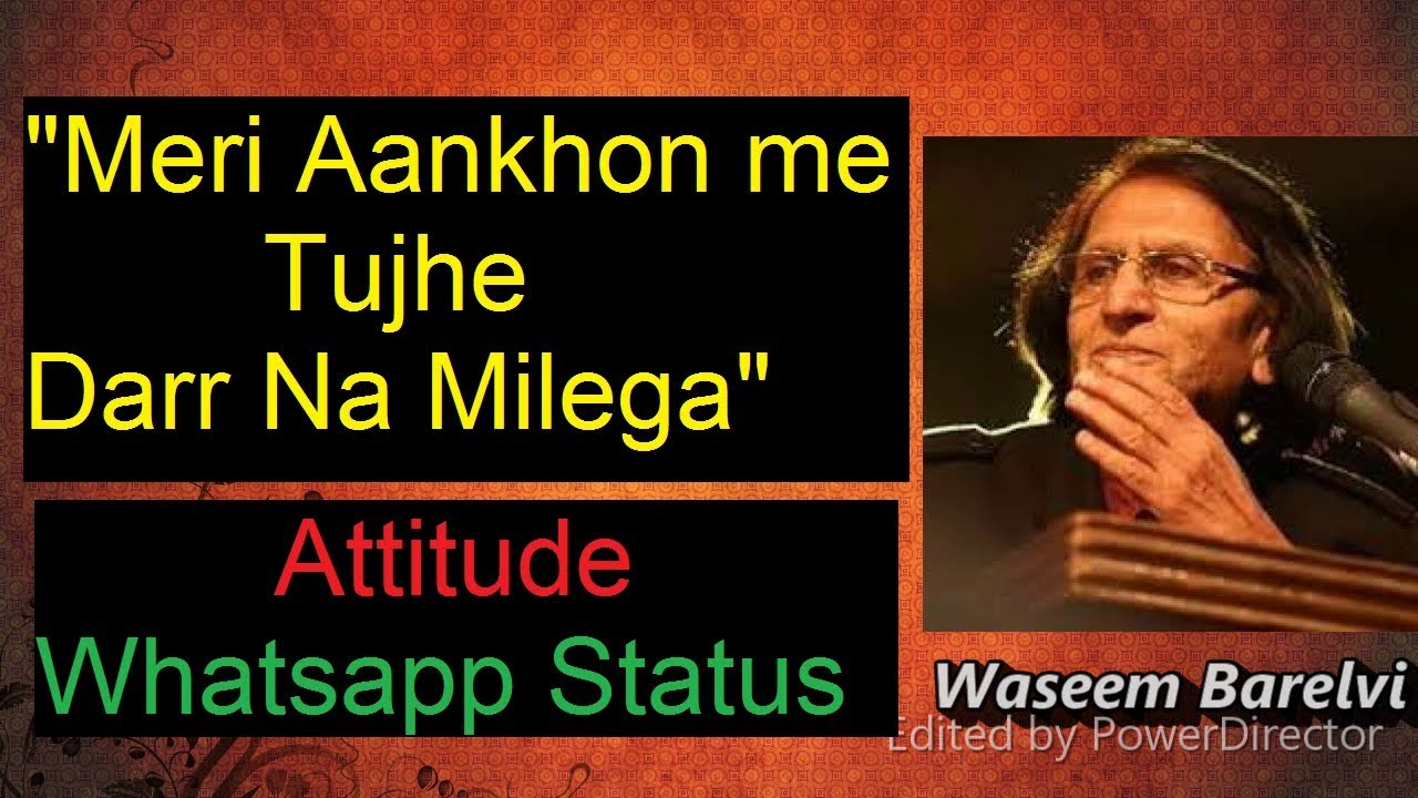 Waseem Barelvi Poetry | Best Urdu/Hindi Attitude Poetry Whatsapp Status  YouTube