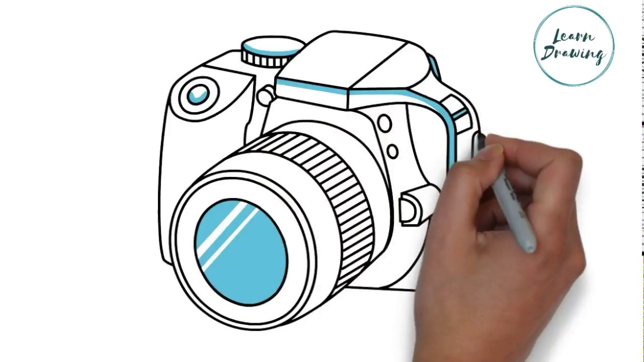 How To Draw A Camera Step By Step Easy Drawing Tutorials Youtube