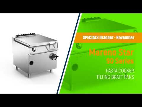 Mareno Star 90 Pasta Cookers & Tilting Bratt Pans | Commercial Kitchen Equipment