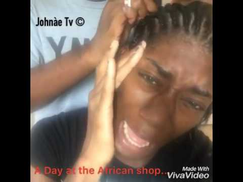 a Day at the African Braiding Shop