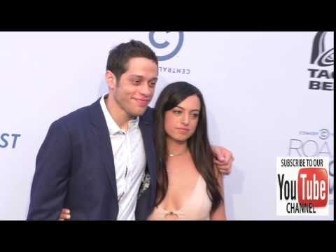 Pete Davidson and Cazzie David at The Comedy Central Roast Of Rob Lowe at Sony Studios in Los Angele